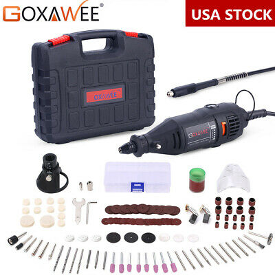 Goxawee Rotary Tool Kit with 140pcs Accessories for Dremel Multi-tool Mini Drill
