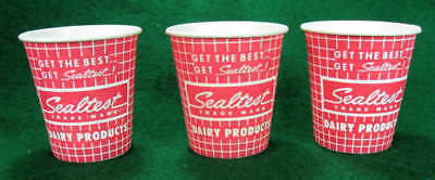 Sealtest Ice Cream Vintage Small Wax Paper Cups Lot Of 3