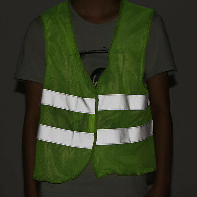 Men Women Vest Reflective Running Safe Night Security Visibility Cycling Jacket