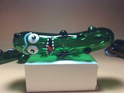 Funny Pickle Rick Glass Pipe glass Bong Smoking Pipe glass bowl hookah  333
