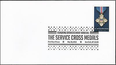 US 5068 Service Cross Medals Coast Guard BWP FDC 2016