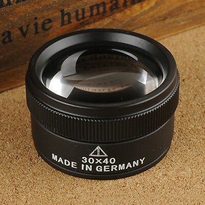 30X Optical Glass Lens Loupe Magnifying Glass For Jewelry Coins Stamps Cheerful