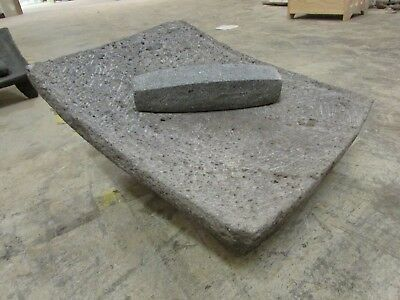 Antique Metate #3-Grinder-Rustic-Complete-Old Mexican--Primitive-15x19.5x9.5