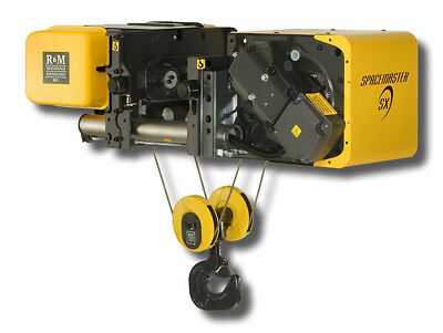 """R&M 10 Ton Low Headroom Wire Rope Hoist 460-3-60 29'6"""" Lift Class H4 New"""