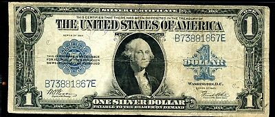 Circulated - 1923 United States Silver Certificate $1 Large Size Note EN752