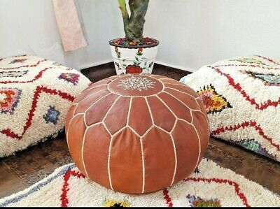 Super On Sold Nice Moroccan Leather Pouf Ottoman With Top Ncnpc Chair Design For Home Ncnpcorg