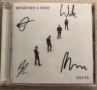 Mumford & Sons  - Delta Cd Signed Autographed Mumford And Sons