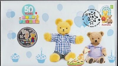 **2016 Australian 50 Years of Play School 50 cent  coin  PNC**