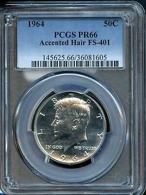 1964 50C Pcgs Pr 66 (Proof 66) Accented Hair Fs -401 Kennedy Half Dollar Sh233