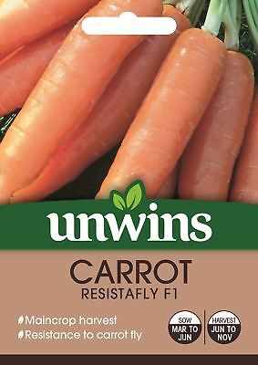 Unwins Pictorial Packet - Carrot Resistafly F1 Seeds