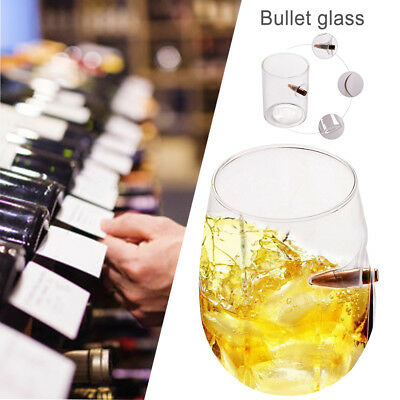 Bullet Whisky Bar Wine Crystal Glass Cup Bullet Vodka Shot Wine Glass Cups