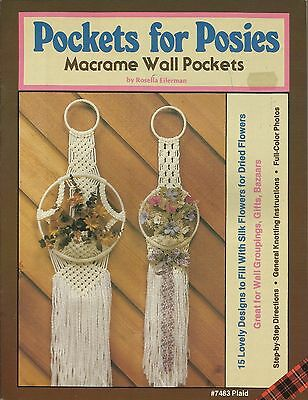 Pockets for Posies Macrame Wall Pockets Pattern Instruction Book NEW 1981