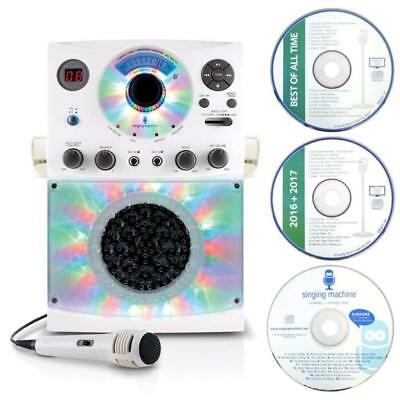 SML385 Karaoke Equipment With Bluetooth 1 Microphone And 36 Current Tracks White