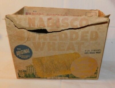 RARE old Nabisco Shredded Wheat Sound Jet Premium Cereal Box