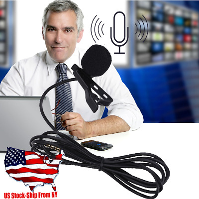 Clip-on Omni-directional Condenser Lavalier Microphone for Smartphone