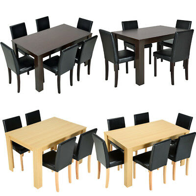 Terrific Panana Modern Wooden Dining Table 4 6 Faux Leather Chairs Unemploymentrelief Wooden Chair Designs For Living Room Unemploymentrelieforg