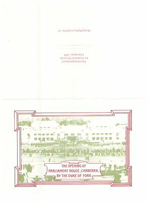 Australia special stamp replica 12 - Parliament House Opening