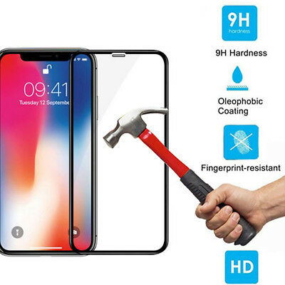 5D Curved Full Cover Tempered Glass Film Screen Protector for iPhone XS Max XR K