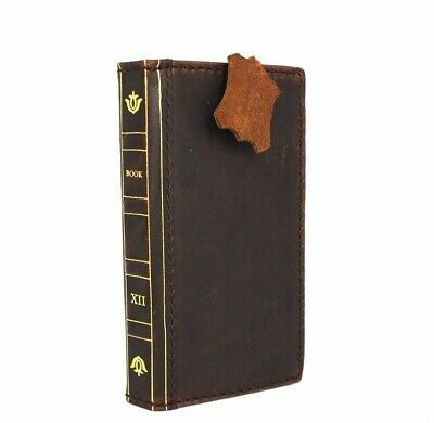 genuine retro leather Case fit apple iphone 6s book wallet Bible cover rubber ID