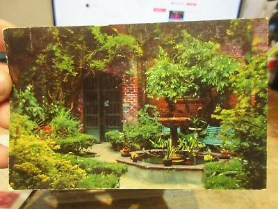 Vintage Old Postcard LOUISIANA New Orleans French Quarter Little Theatre Patio
