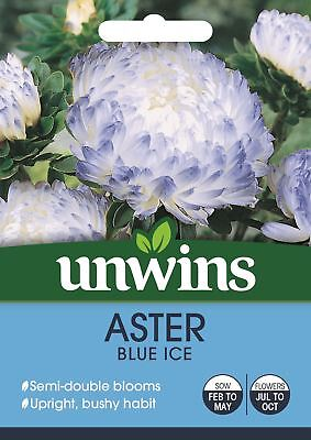 Unwins Pictorial Packet - Aster Blue Ice - 200 Seeds