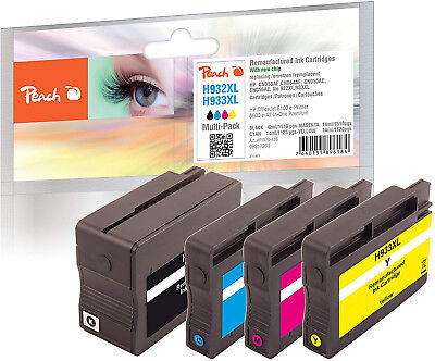 Peach PI300 416 Multi Pack (Black, Yellow, Magenta and Cyan) Remanufactured Ink