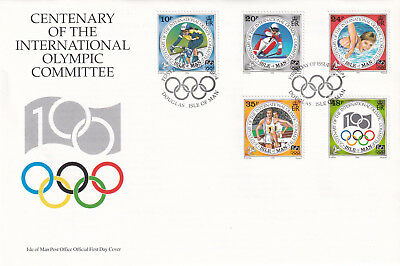 (22674) GB Isle of Man FDC Olympic Committee IOC 11 October 1994