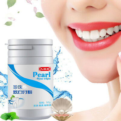 1x Teeth Whitening Powder Pearl Antibacterial Powder Cleaning Teeth Whitener Kit