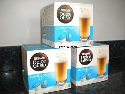Nescafe Dolce Gusto 48 Cappuccino Ice Coffee Pods 3 X 16 New