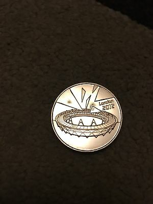 Official 2012 London Olympic BUNC COMPLETER MEDALLION/COIN 1st Edition SCARCE