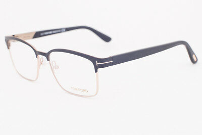355d44d375 AUTHENTIC TOM FORD FT 5323 002 Matte Black And Gold Square Metal ...
