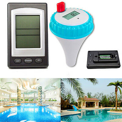 Wireless LCD Digital Thermometer Remote Control Waterproof In Swimming Pool
