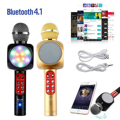 Q7 Wireless Karaoke Microphone Portable Bluetooth Mic Speaker MP3 Mini Home KTV