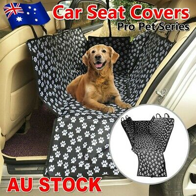 Black Nonslip Pet Car Back Seat Cover Cat Dog Waterproof Protector Hammock Mat