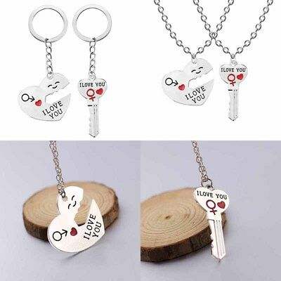 I Love You Necklaces Keychain Gifts Letter Key Rings Drive Safe Pendant Alloy