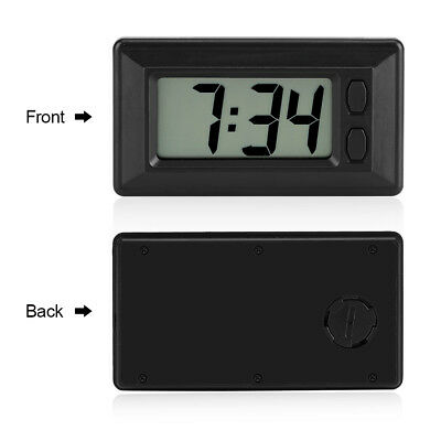 Mini Digital LCD Clock Electronic Clock with Time Display Adhesive Pad US