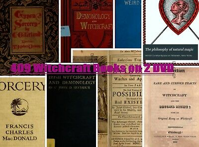 WITCHCRAFT WICCA PAGAN SPELLS WITCHES MAGIC OCCULT Demonology 409 Books SALE