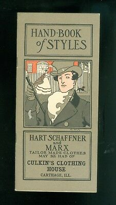 1902 Exceptional Mens Fashions Hart Schaffner Marx Catalog