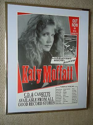 Katy Moffatt Tour Music Gig Poster 1993 Vintage Unreleased To Public Poster Mint