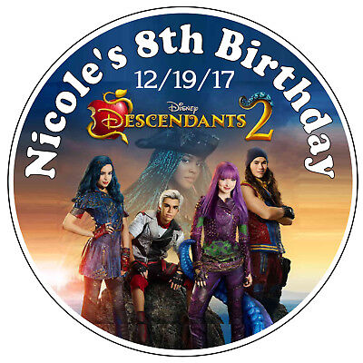20 Disney Descendants Birthday Party Favors Stickers Labels For Your