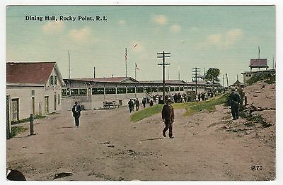 ROCKY POINT AMUSEMENT PARK Rhode Island PC Postcard WARWICK Dining Hall SEDDON