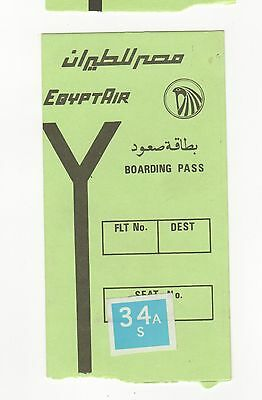 VINTAGE EGYPTAIR Egypt Air BOARDING PASS Egyptian AFRICA Flight AIRLINES Airline