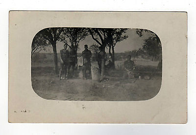 WWI RPPC Real Photo Postcard MILITARY Soldiers ARMY NAVY USN USS Arkansas