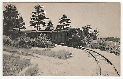 EDAVILLE RAILROAD RR PC Postcard TRAIN South Carver Massachusetts TRAINS Mass MA
