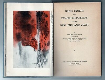 RARE1943 EDWARD ROWE SNOW Signed LIMITED EDITION Storms Shipwrecks New England
