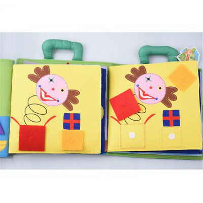 Pony Puzzle Shape Matching Baby Books Toy Cloth Book Child Boys Girls Gift LD