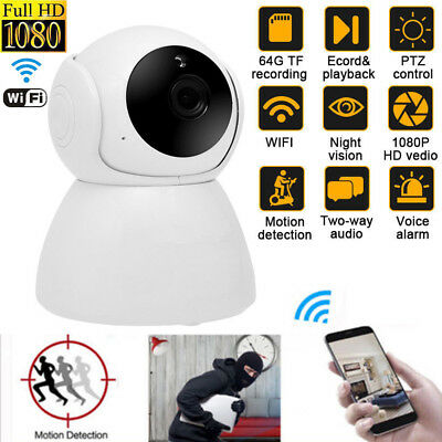 Wireless Wi-Fi Camera 720p/1080P HD Pan Tilt IP Webcam Night Vision Baby Monitor