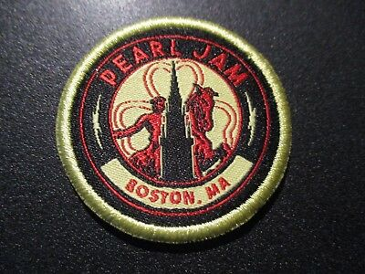 PEARL JAM Embroidered Iron-on Patch FENWAY PARK BOSTON 2018 Away Show