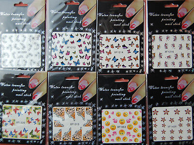 Nagel Sticker Nail Aufkleber Tattoo Design XF