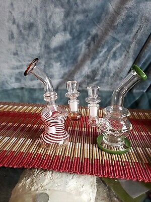"New Hookah Water Pipe Glass 8"" inch Tornado Turbine Center Smoking Pipe Bong rig"